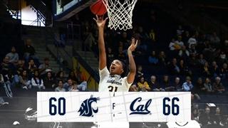 Cal Wins Close Battle over WSU, 66-60