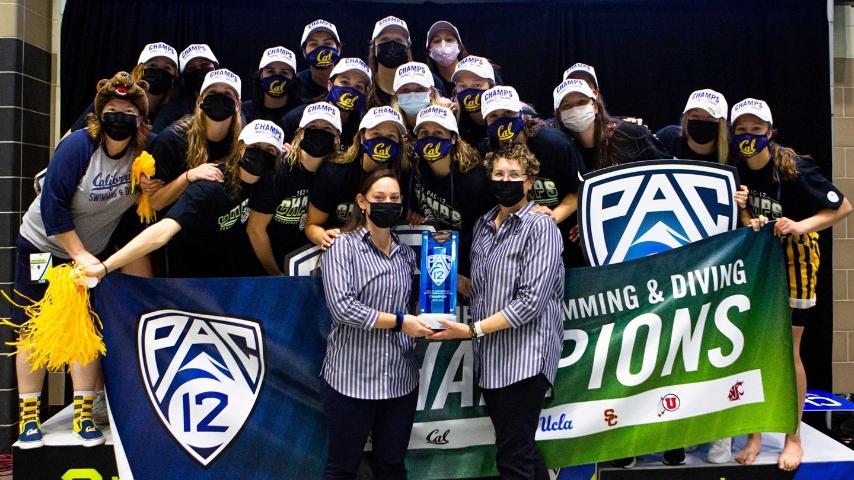 Golden Bears Swimming Win Pac-12 Championship