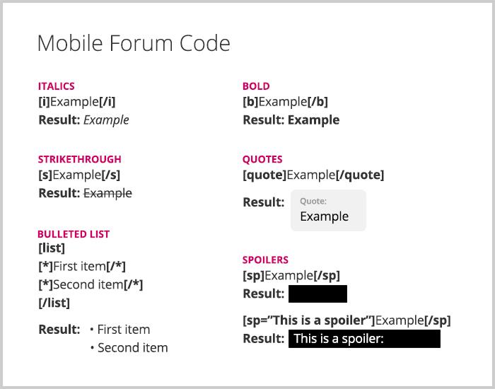 Forum Code